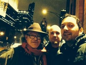 Con Gus Domínguez y Octavio Guerra en Chicago